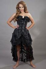 Gothic Victorian Steampunk Vintage Bustle Taffeta Corset Dress