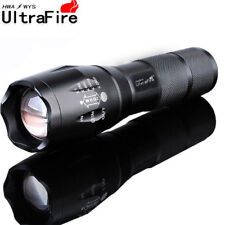 50000LM 5Modes T6 18650 LED Flashlight Zoomable Military Super Bright Torch Lamp