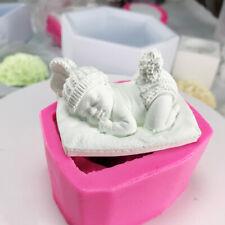 Reutilizable De Silicona Molde Antiadherente Velas Decoración Pastel De Dormir Bebé No Tóxico