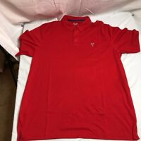 The Hamptons Mens Golf Polo Shirt Red Blue Short Sleeves Cotton Blend XL New