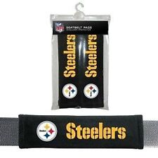 PITTSBURGH STEELERS 2 VELOUR SEATBELT LAPTOP GYM BAGS SHOULDER PADS NFL FOOTBALL