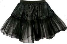 """16"""" Black Underskirt Net Halloween Rock n Roll Witch UK"""