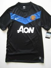 Nike Manchester United AON 3rd Black Player Issue Jersey Football Shirt Mailot M