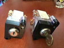 Lot Of 2 New Elevator Spring Loaded Key Switches 1 Key Ae102 Free Shipping