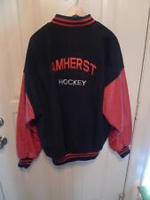 Amherst (New York) Hockey Jacket-Wool Blend With Leather-Made In Canada-Xl
