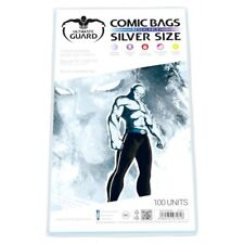 More details for ultimate guard - comic bags - resealable silver size (100)