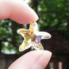 Clear Glass Starfish Crystal Pendant Beads Necklace Prisms DIY Making Craft Gift