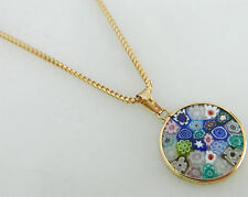 Vintage 14K Gold Floral Necklace / Italian necklace / 14K Gold Italy