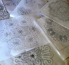 3 Bobbin Lace Patterns to making Lace Doily Russian style