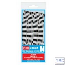 ST-3016 Peco Sterack N Gauge Code 80 Standard Curve, 3rd Radius (Pack of 8)