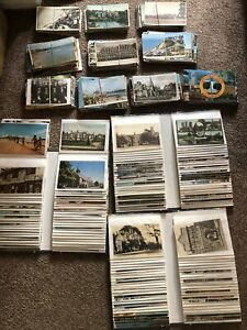 Immense Postcard Collection 3 Albums And Shoebox Of Postcards Approx 825 Plus