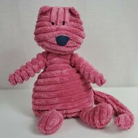 "Jellycat Cordy Roy Pink Cat Plush Stuffed Animal Long Tail 10"" Baby Toy"