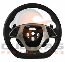 2015-2019 C7 Corvette Z06 Steering Wheel Automatic Black Leather Kalahari Stitch