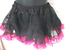 Black & Pink TULLE SKIRT~Dance~Ice Skating~Adult One Size Fits Most