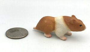 Schleich HAMSTER Brown Orange & White Animal figure 2004 Retired 14412 NEW