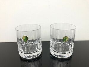 Waterford Crystal Double Old Fashioned Enis Tumblers Brandy Glasses Set of 2