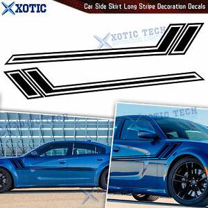 Black Side Skirt Fender Hash Graphics Vinyl Sticker For Dodge Challenger Charger