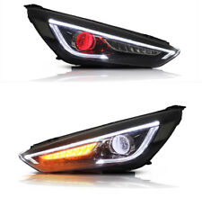 LED Infiniti Headlights Projector For Ford Focus 2015-2017 Sequential Indictor