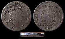pci770) Regno Ferdinando I piastra  1818 TG ghiera Ribattuta caratteri DOPPI