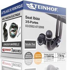 ATTELAGE fixe SEAT IBIZA 3/5-Portes 2002-2008 + FAISC.UNIV.7 broches COMPLET