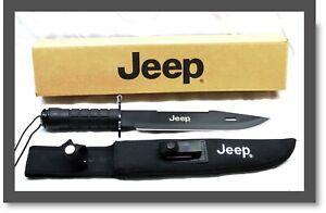 Large JEEP Black Sawback Survival Multi-purpose Bowie Knife w/ Survival Kit-38cm
