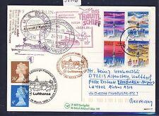 58886) LH FF Frankfurt - Edinburgh GB 28.3.99, Karte SP ab Kuwait Lib.Tower