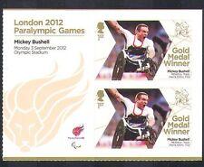 2012 GB PARAOLIMPICI/Olimpiadi/Sport/Medaglia d'Oro Vincitori/Mickey bushell 2 V + n36328