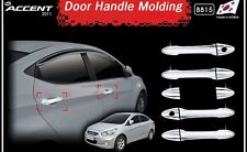 MPORTED Chrome Door Handle Latch Cover For Hyundai New Verna Fluidic.