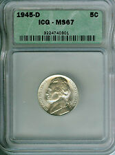 GEM+ BU 1945-D Jefferson Silver War 5 cent Nickel!