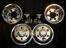 "Mitsubishi FH Wheel Simulators 17.5"" 6  Lug liners cabover import stainless new"