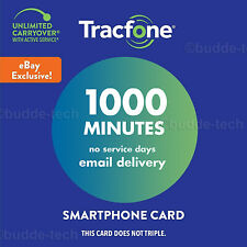 TracFone New Smartphone Plan *1000 Minutes* Talk Time Airtime PIN# Web Exclusive