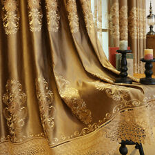 High-class embroidered gold luxury European drapes cloth blackout curtain