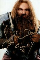 JOHN RHYS DAVIES signed Autogramm 20x30cm LORD OF THE RINGS In Person autograph