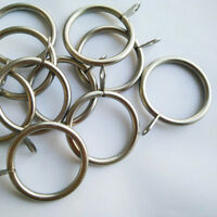 Silver and Black Metal Curtain Rings Curtain Accessories 10pcs/Bag