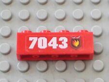 LEGO Red Brick 1x4 Fire Logo 7043 Sticker 7043stk01 Ref 3010pb070L Set 7043