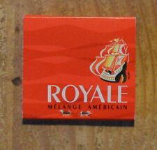 Pochette d'allumettes complète Royale mélange américain, années 1970-1980