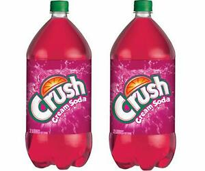 Crush Cream Soda Soft Drink (2 Bottles), 2 Litres / 67.6 fl. oz.each {Canadian}