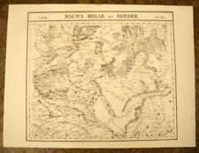 INDES PROVINCE DU MALVA BERAR Carte géographique d'Asie VANDERMAELEN 1827