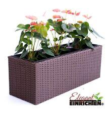 Braun 48x18x18 Balkonkasten Blumenkasten Pflanzkasten Polyrattan wetterfest