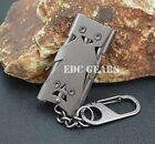 EDC Gear HIGH frequency Funny face Survival Whistle 3pipes SUPER Loud Stainless