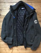 Camp David Blue Winterjacke mit Kapuze Größe M