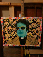 "Rev. Jim Jones ""909 Dead"" acrylic painting"