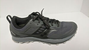 Saucony Peregrine 10 Trail Running Shoes, Black/Grey, Women's 10.5 M