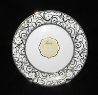 4x Ciroa Luxe Veluto GOLD Scroll Swirls Porcelain Salad Dessert Side Plates