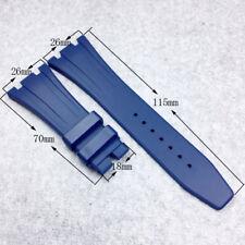 26mm-18mm Blue Soft Silicone/Rubber Strap Band for AP AudemarsPiguet Royal Oak