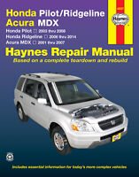 Honda Pilot Ridgeline & Acura Mdx Shop Repair Service Manual Book