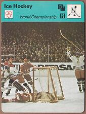 World Championship 1977 Sportscasters Italy Printing #07-08 - Vladislov Tretiak