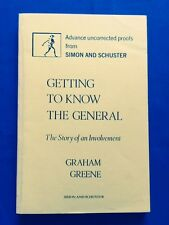 GETTING TO KNOW TH GENERAL - UNCORRECTED PROOF OF 1ST. AMERICAN BY GRAHAM GREENE
