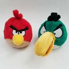 Lot of 2 Angry Birds Plush Green Hal Toucan Red