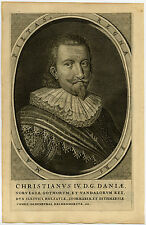 Antique Print-CHRISTIAN IV-DENMARK-NORWAY-KING-Van Meteren-1614